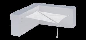 Voile d'ombrage avec 3 ancrages au mur et 1 pied inox