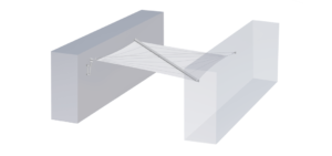 Voile d'ombrage avec 4 ancrages au mur